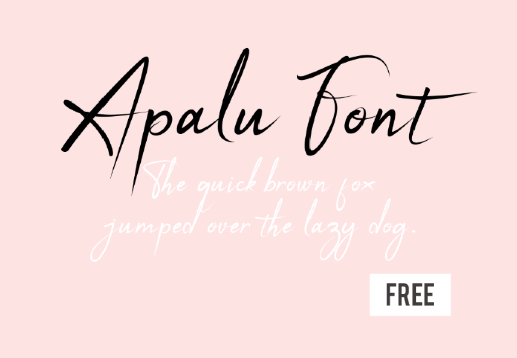 Free Script Font for Commercial Use