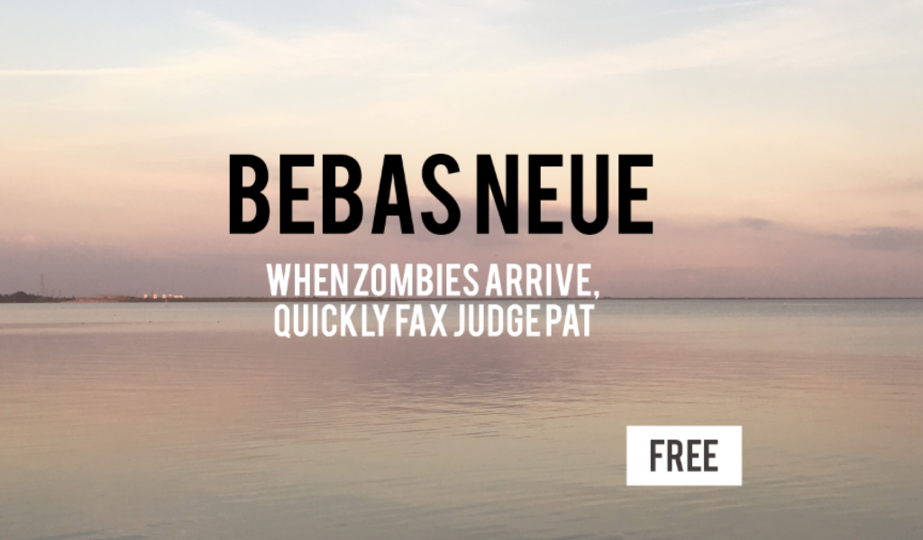 Bebas Neue Font, free for commercial use font